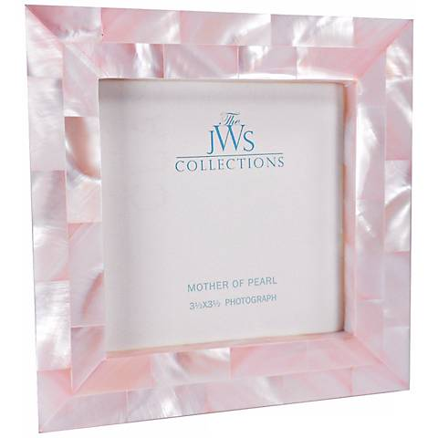 pink mother of pearl 35x35 photo frame