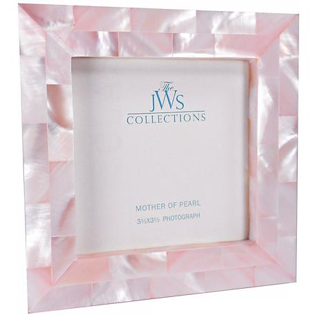 Pink Mother of Pearl 3.5x3.5 Photo Frame