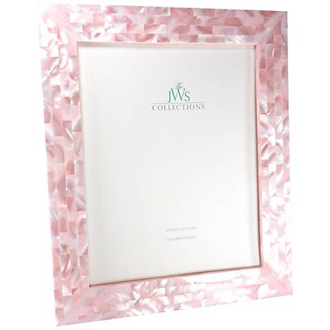 pink mother of pearl 8x10 frame
