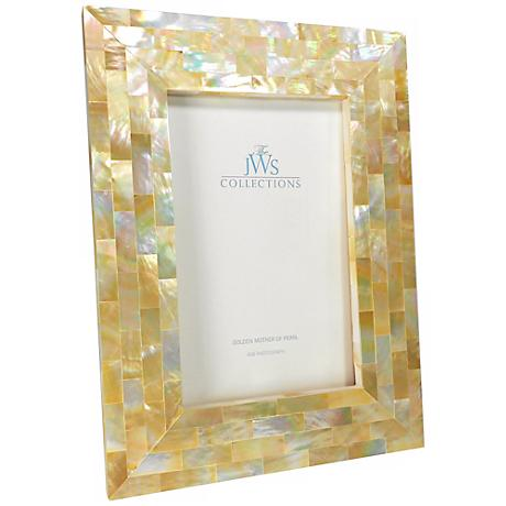 Golden Mother of Pearl Oyster Shell 4x6 Picture Frame