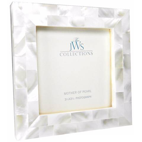 white mother of pearl 35x35 photo frame - Mother Of Pearl Picture Frame