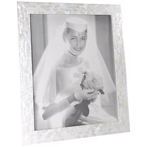 White Mother of Pearl 11x14 Photo Frame