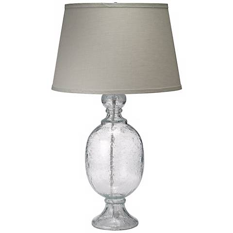 Jamie Young St. Charles Clear Seeded Glass Table Lamp