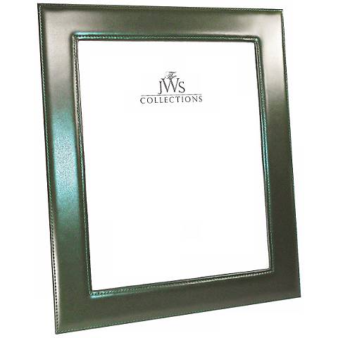 Green 8x10 Cowhide Leather Photo Frame