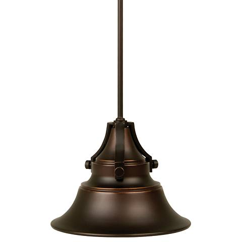 """Union 46 3/4"""" High Gilded Oiled Bronze Outdoor Hanging Light"""