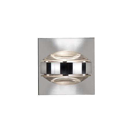 "Besa Optos 3 1/2"" Wide Chrome Clear Glass Wall Sconce"