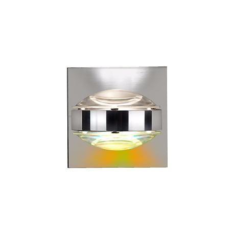 "Besa Optos 3 1/2"" Wide Chrome Clear and Warm Wall Sconce"