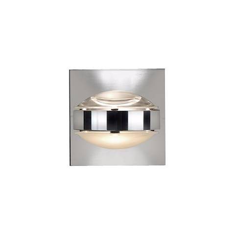 "Besa Optos 3 1/2"" Wide Chrome Clear and Frost Wall Sconce"
