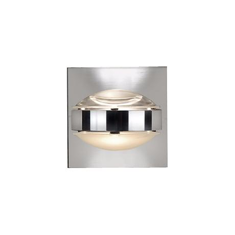 """Besa Optos 3 1/2"""" Wide Chrome Clear and Frost Wall Sconce"""