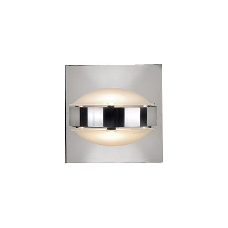 """Besa Optos 3 1/2"""" Wide Chrome Frost and Frost Wall Sconce"""