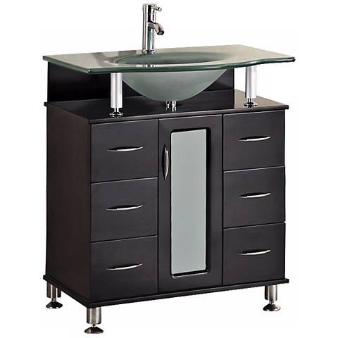 "Huntington 30"" Wide Espresso Single Sink Vanity Set"