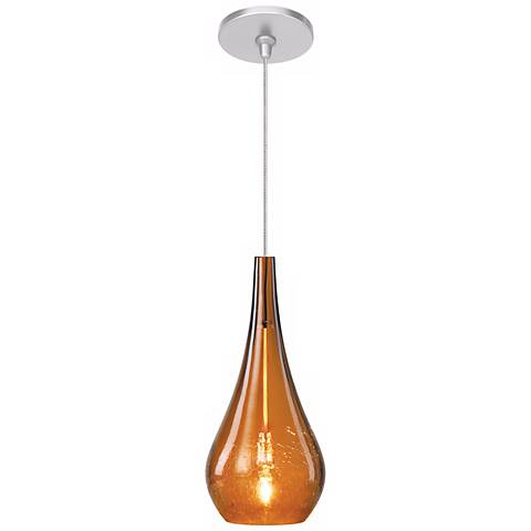 LBL Seguro Amber Nickel Pendant Light