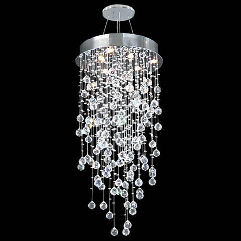 "James Moder Crystal Rain 20"" Wide Silver Chandelier"