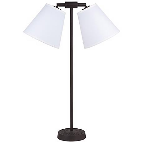 Lights Up! Zoe Twin Light Ivory Ipanema Desk Lamp