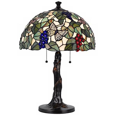 Fruit Tree Tiffany Style Dark Bronze Table Lamp