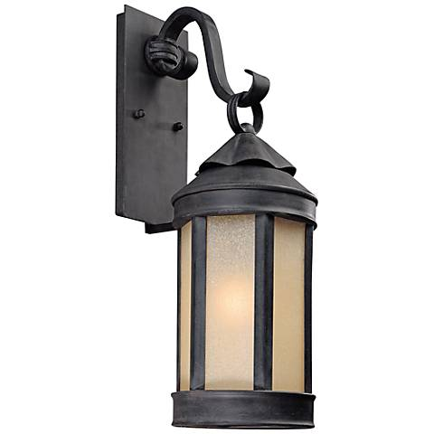 """Anderson Forge 21"""" High Antique Iron Outdoor Wall Light"""