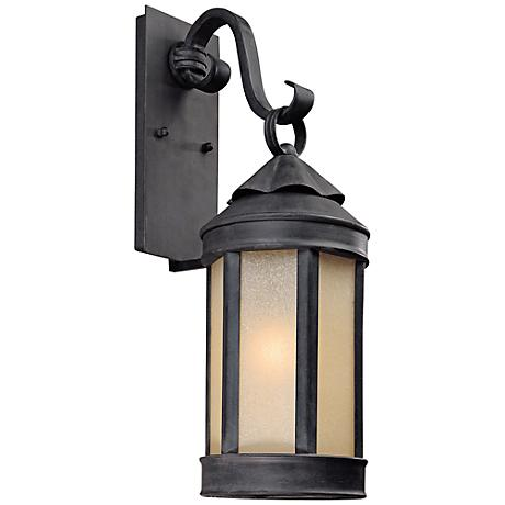 "Anderson Forge 21"" High Antique Iron Outdoor Wall Light"
