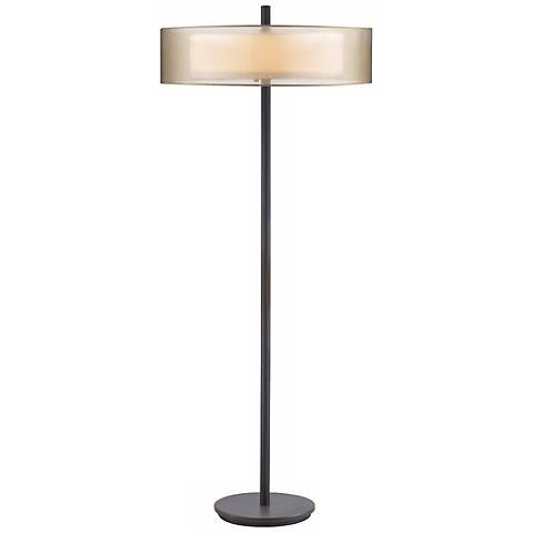 Sonneman Puri Black Brass Floor Lamp