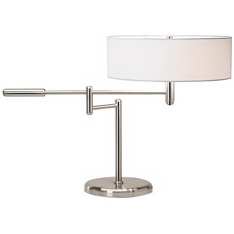 Sonneman Perno Polished Nickel Swing Arm Desk Lamp