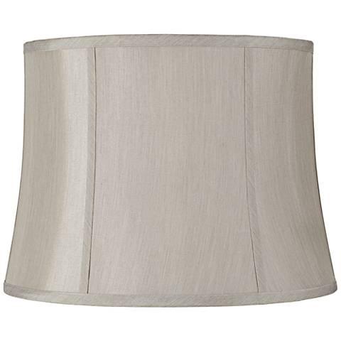 Round Softback Gray Lamp Shade 14x16x12 (Spider)