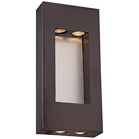 """Minka Geox 17 1/4"""" High Bronze Outdoor Pocket Light"""