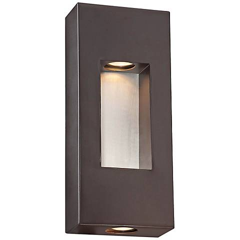 """Minka Geox 14"""" High Bronze Outdoor Pocket Light"""