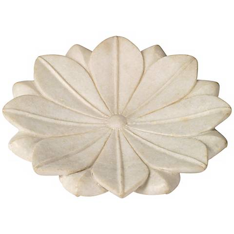 Jamie Young Large Lotus Marble Plate