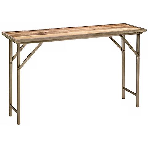 Jamie Young Campaign Folding Console Table