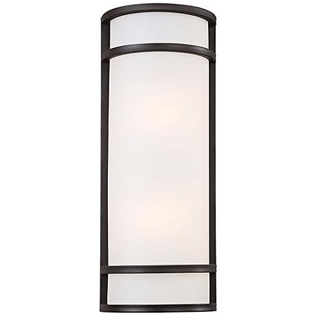 "Bay View 20"" High Rubbed Bronze Outdoor Pocket Light"
