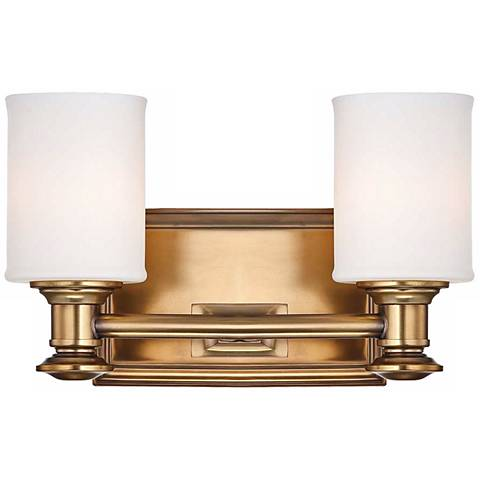 """Harbour Point 7 1/4"""" High 2-Light Liberty Gold Wall Sconce"""