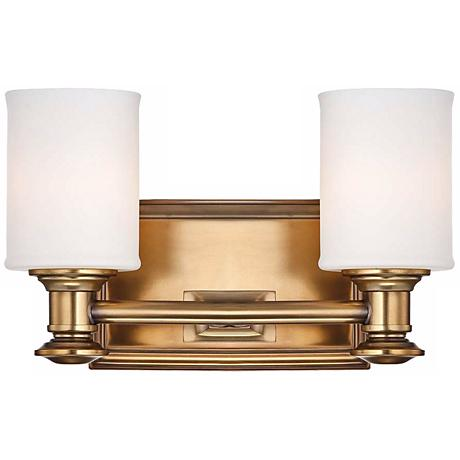 """Harbour Point 11 1/4"""" Wide 2-Light Liberty Gold Wall Sconce"""