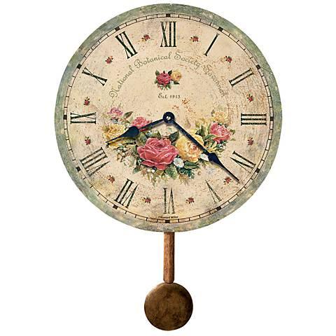 "Savannah 13"" High Botanical Wall Clock"