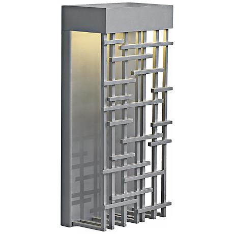 """Pier 60 Silver 14 1/2"""" High LED Outdoor Wall Light"""