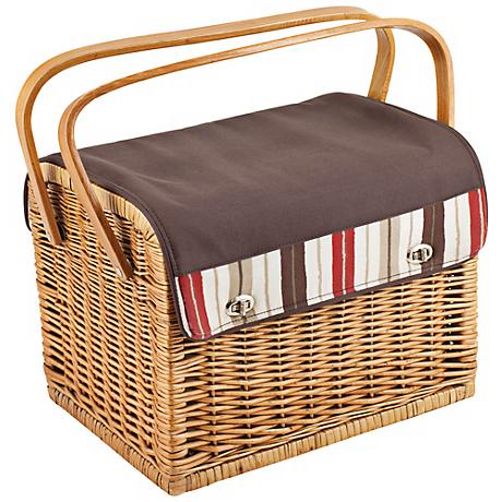 Picnic Time Moka Kabrio Wicker Picnic Basket Set