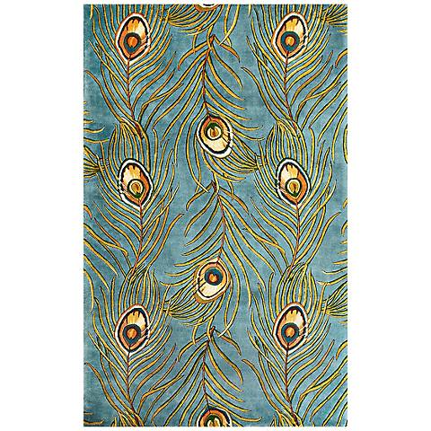 Catalina Collection Blue Peacock Area Rug