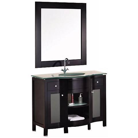 "Rome 43"" Wide Mahogany Sink Vanity Set"