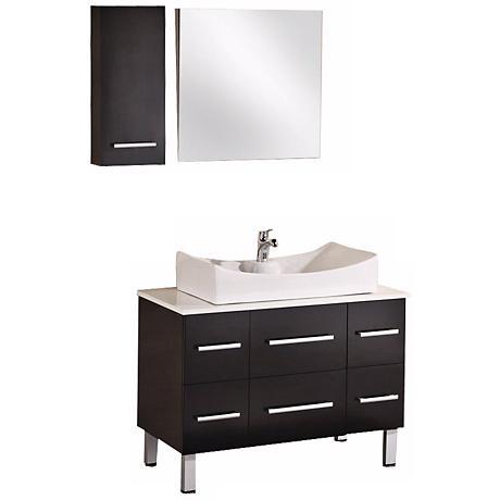 "Paris 36"" Wide Espresso Sink Vanity Set"