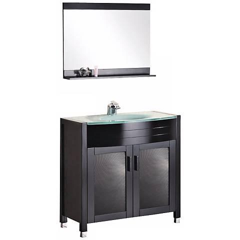 """Waterfall 36"""" Single Sink Vanity Set"""