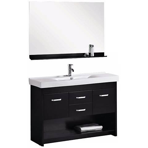 "Citrus 48"" Single Sink Espresso Vanity Set"