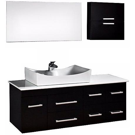 "Springfield 55"" Espresso Sink Vanity Set"