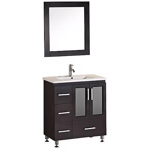 """Stanton Dark Espresso 31 1/2"""" Drop In Sink Vanity Set"""