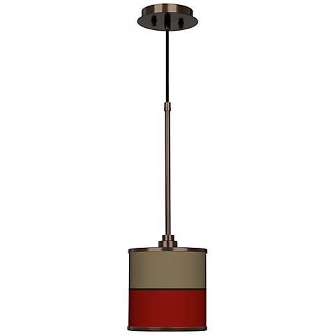 Empire Red Giclee Glow Bronze Mini Pendant Light