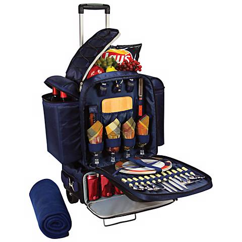 Excursion Burgundy Insulated Picnic Cooler and Set