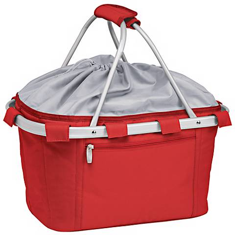 Picnic Time Metro Collapsible Red Basket