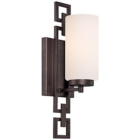 "Del Ray 5"" Wide Flemish Bronze Wall Sconce"