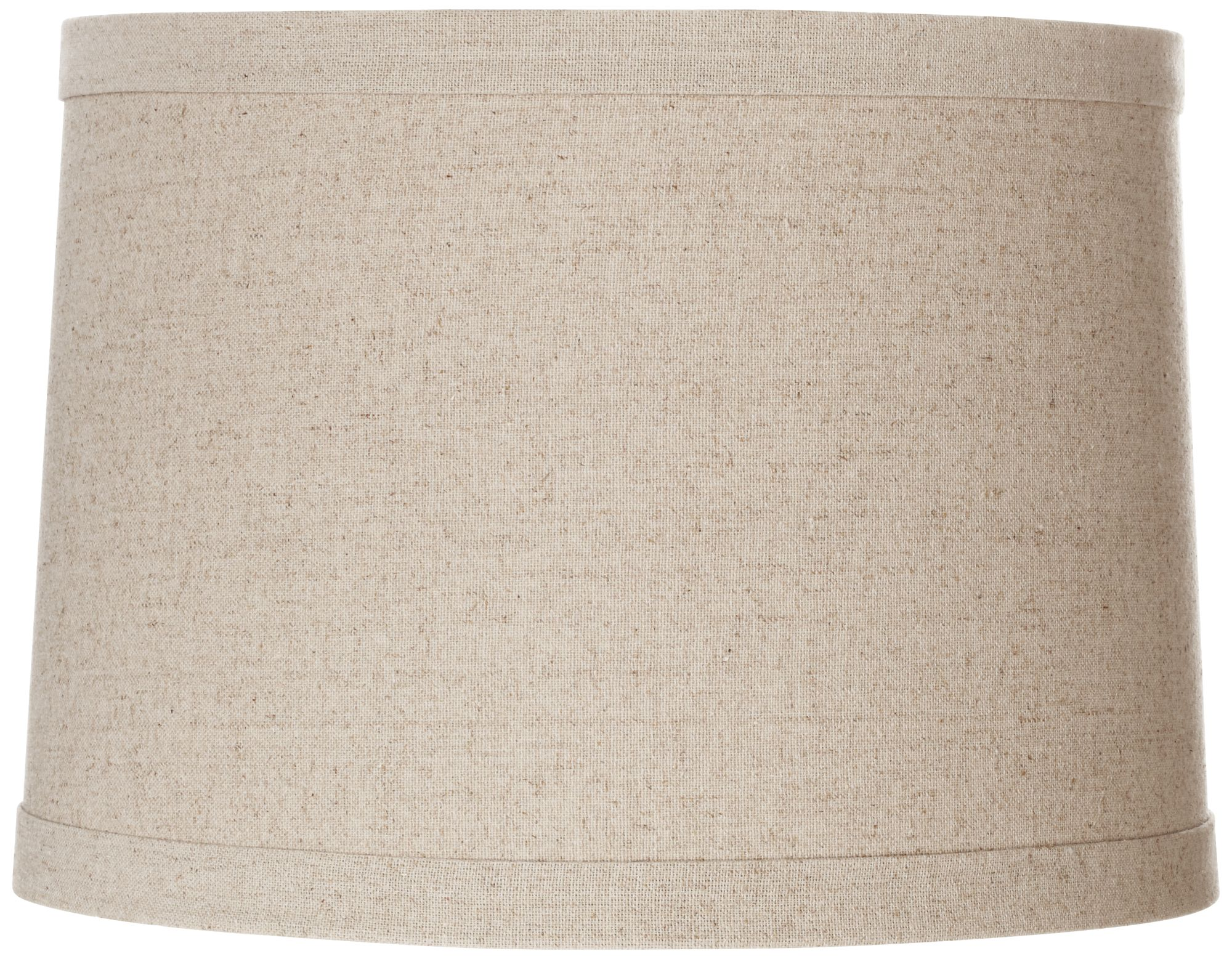 springcrest natural linen drum shade 13x14x10 spider - Drum Shade