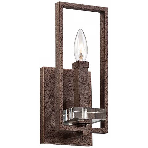 "Fieldhouse 13"" High Bronze Wall Sconce"