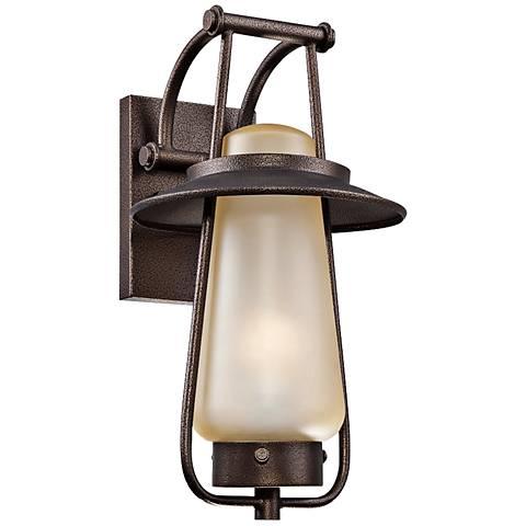 "Stonyridge 9"" Wide ENERGY STAR Bronze Outdoor Wall Lantern"