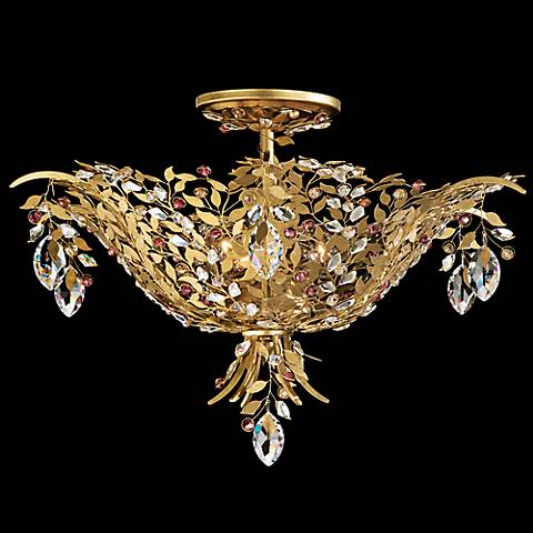 "Amytis Ray 20 1/4"" W Schonbek Crystal Ceiling Light"