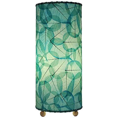 "Eangee Sea Blue 17"" high Uplight Accent Table Lamp"